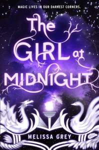 Book cover for The Girl at Midnight by Melissa Grey.