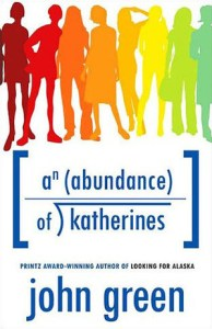 Book cover for An Abundance of Katherines by John Green.