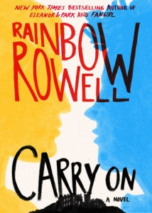 Book cover for Carry On by Rainbow Rowell.