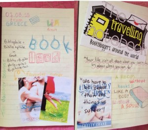 Lia's pages from The Travelling Notebook.