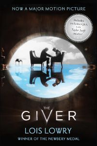 Book cover for The Giver by Lois Lowry.