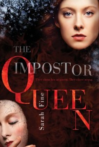 Book cover for The Impostor Queen by Sarah Fine.