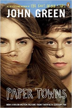 Book cover for Paper Towns by John Green.