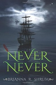 Book cover for Never Never by Brianna R. Shrum.