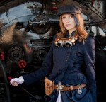 Image of Susan Dennard in a steampunk costume.