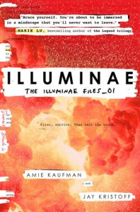 Book cover for Illuminae by Amie Kaufman and Jay Kristoff