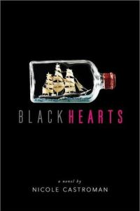 Book cover for Blackhearts by Nicole Castroman.