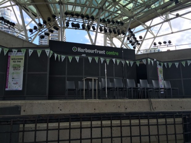 Image of the Harboutfront Centre stage in Toronto.