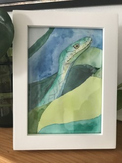 Snake Watercolour Giveaway