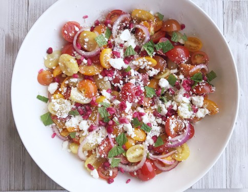 Cherry Tomato Pomegranate Salad