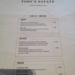 Toby's Estate Manila Menu