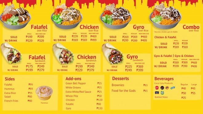 The Halal Guys Philippines menu 7