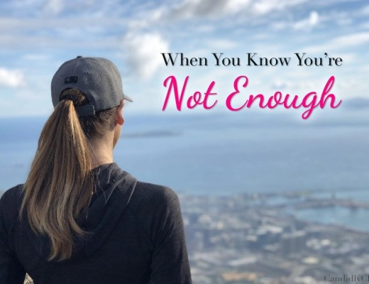 When you know you're not enough...
