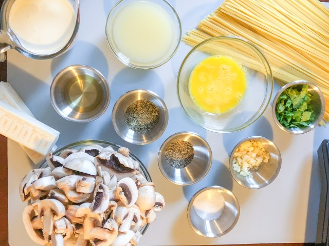 Lemon Butter Linguine Ingredients