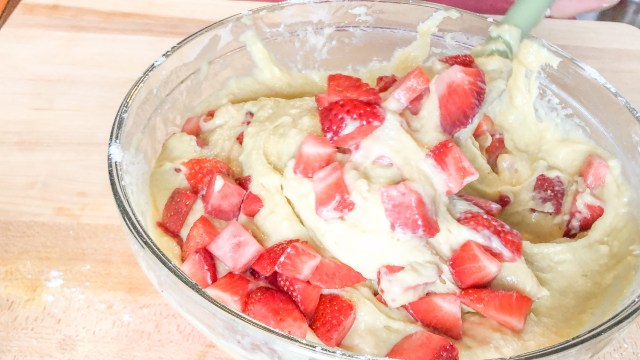 Fold in Strawberries