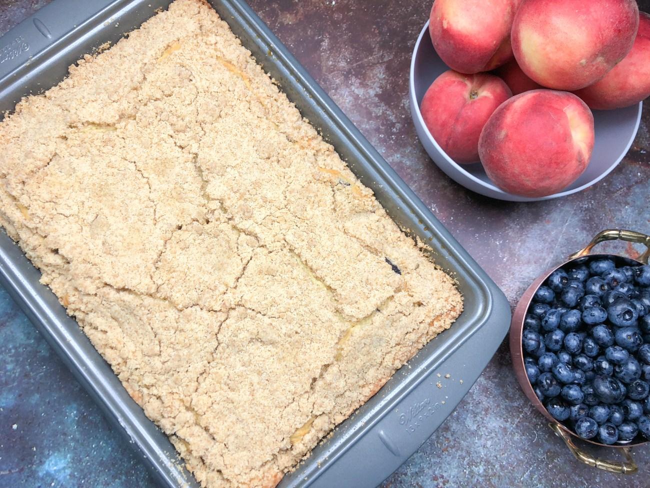 Blueberry-Peach Crumb Cake