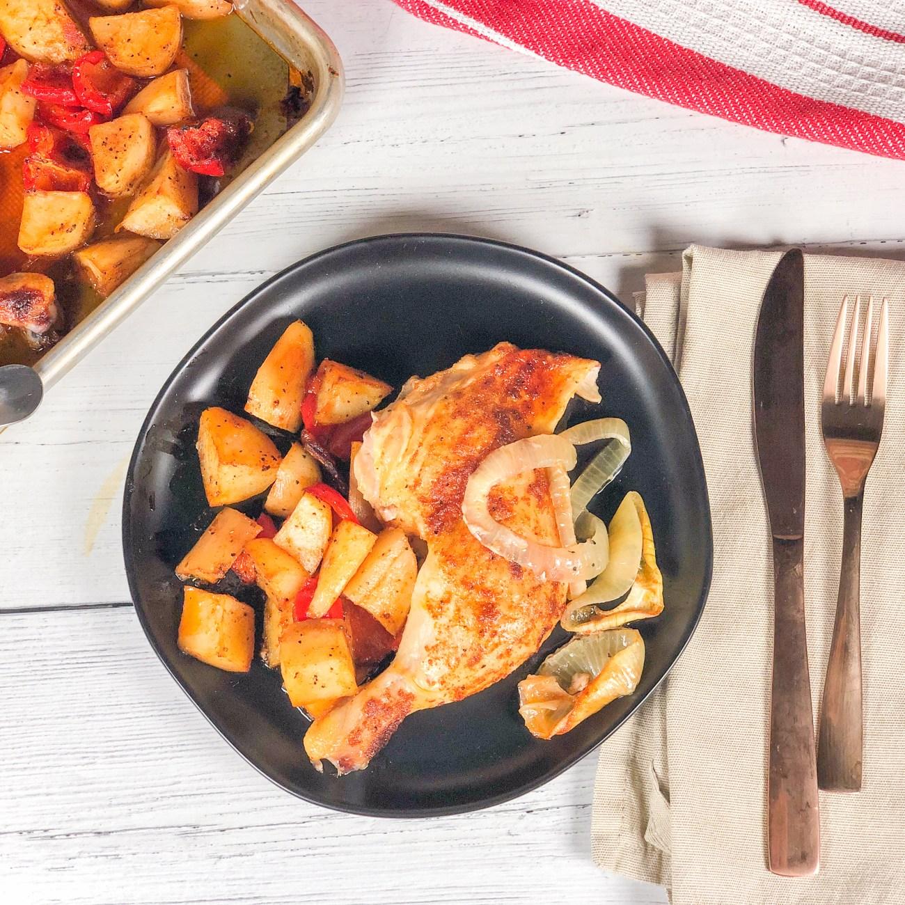 Sheetpan Spatchcock Chicken Dinner