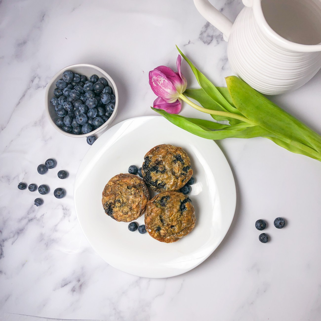 Grain-free Blueberry Banana Muffins