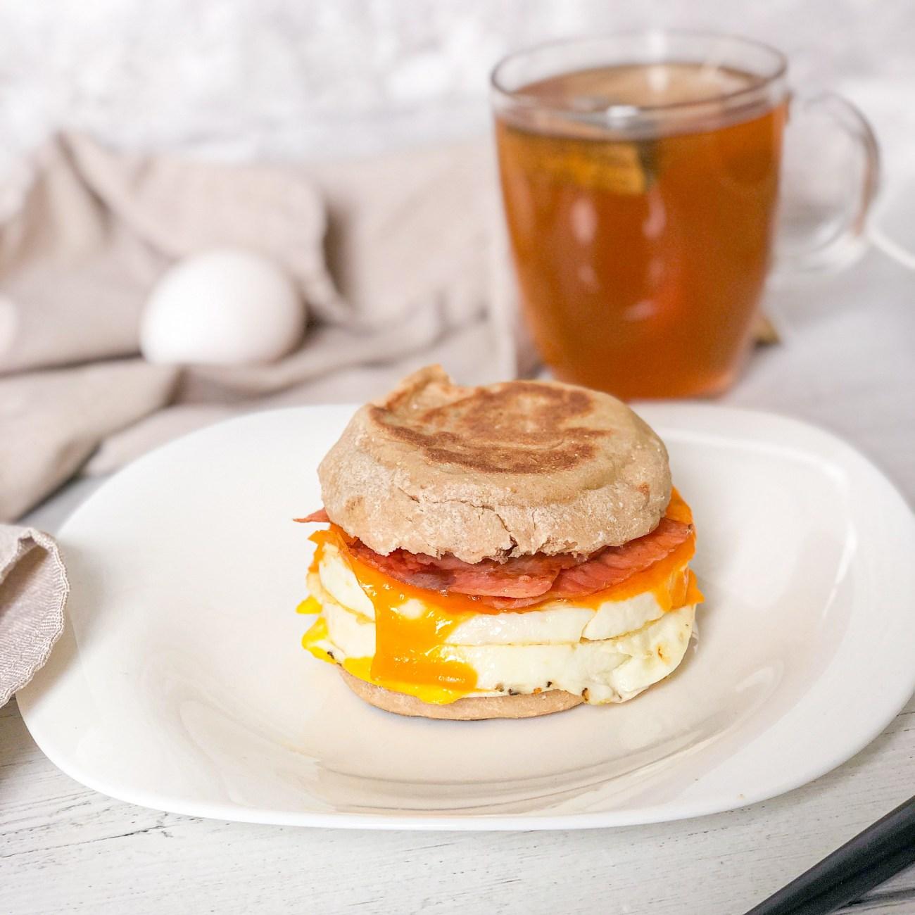 Crispy Lox and Egg Breakfast Sandwich