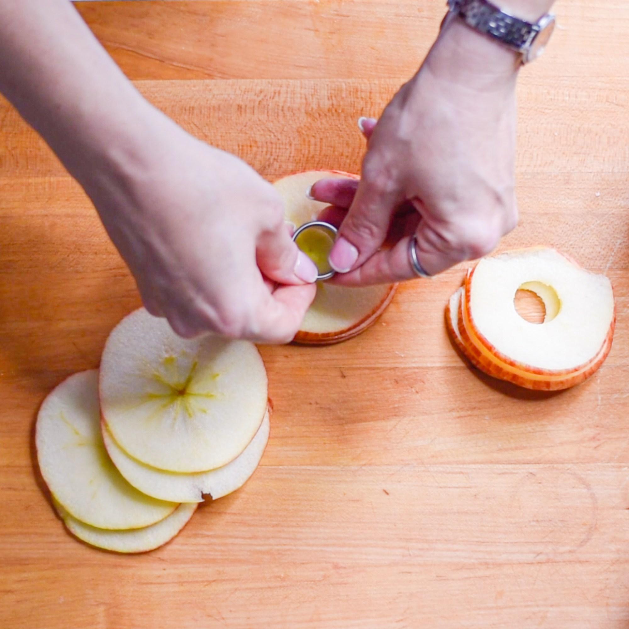Beet Hummus with Cinnamon Apple Chips