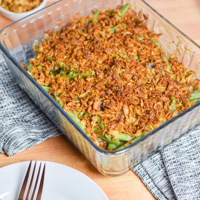 Dairy-free Green Bean Casserole by Candidly Delicious (Gluten-free Option!)