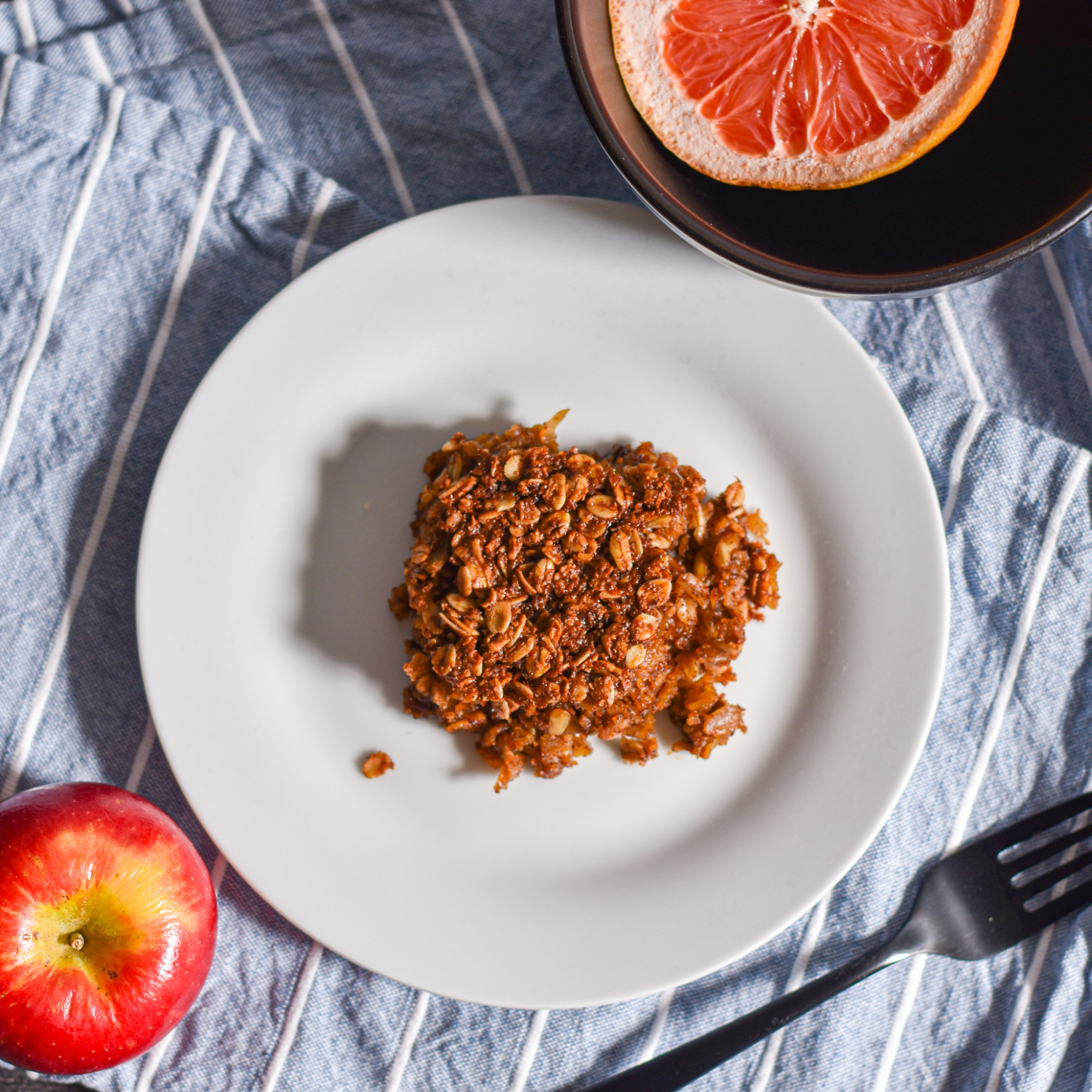Apple Cinnamon Baked Oatmeal by Candidly Delicious