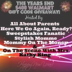 The Years End $400 Walmart Gift Code Giveaway (Ends 1/03)