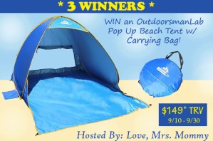 OutdoorsmanLab Pop Up Beach Tent Giveaway [Ends 9/30]