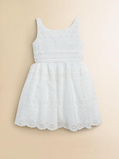 Ralph Lauren Toddler's (& Little Girl's) Eyelet Dress Easter