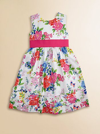 Hartstrings Toddler's & Little Girl's Floral Sateen Dress in White Floral. Saks Fifth Avenue Easter