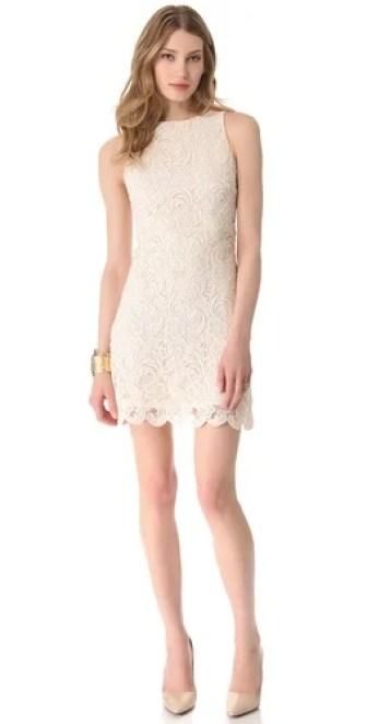 alice + olivia Ingrid Lace Dress in Cream. Shopbop
