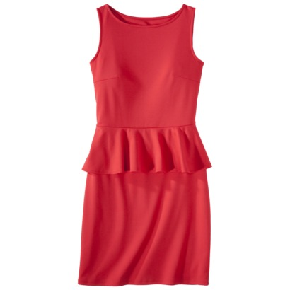 Mossimo Womens Ponte Peplum Sleeveless Dress in Biscayne Turquoise, Knockout Aqua, Lollirop Red or Sarah Pink. Target