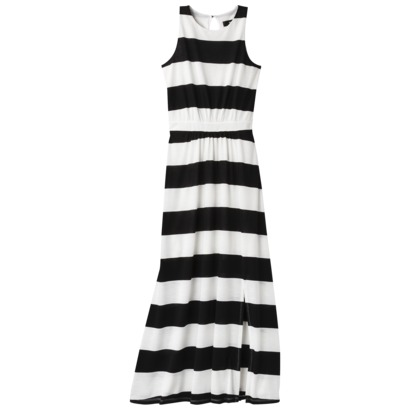 Mossimo Women's Knit Maxi Dress in Black/White or Burnt Orange. Target