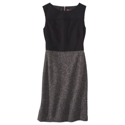 Merona Women's Sleeveless Ponte Shift Dress in Boucle/Black or Jacquard/Black. Target