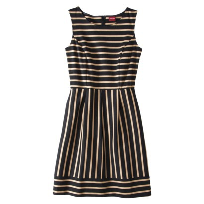 Merona Women's Ponte Stripe Dress in Black or Xavier Navy. Target.com