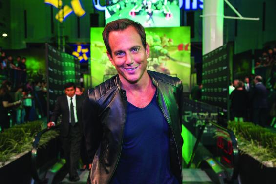 """MEXICO CITY, MEXICO - JULY 29: Actor Will Arnett attends the Latin American Premiere of Paramount Pictures' """"TEENAGE MUTANT NINJA TURTLES"""" at Cinepolis Acoxpa, on July 29, 2014 in Mexico City, Mexico. (Photo by Lucian Capellaro/ Paramount Pictures International)"""