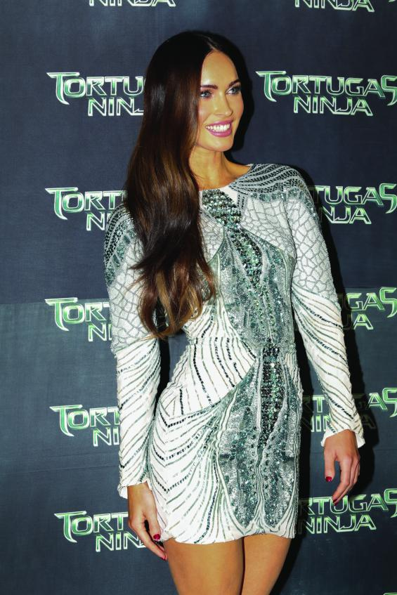 """Latin American Premiere Of """"Teenage Mutant Ninja Turtles""""  MEXICO CITY, MEXICO - JULY 29: American actress Megan Fox attends the Latin American Premiere of Paramount Pictures' """"TEENAGE MUTANT NINJA TURTLES"""" at Cinepolis Acoxpa, on July 29, 2014 in Mexico City, Mexico. (Photo by Victor Chavez/ Getty Images for Paramount Pictures International)"""
