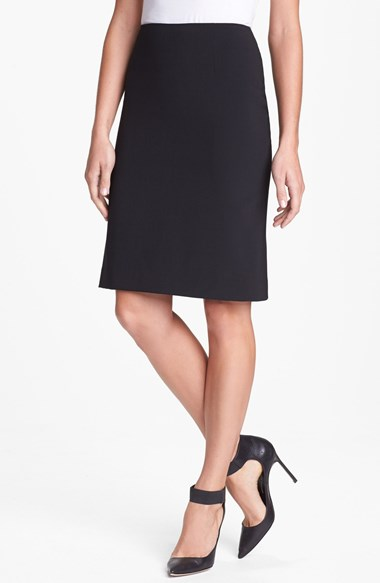 Theory 'Golda 2' Pencil Skirt in Black