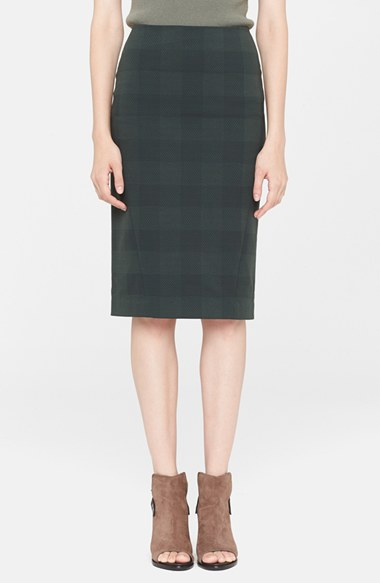 rag & bone 'Ora' Check Pencil Skirt in Green Gables