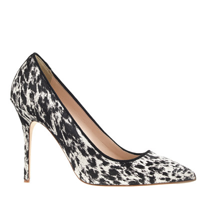 J.Crew COLLECTION ROXIE CALF HAIR PUMPS item b1004 in Black and White Spots