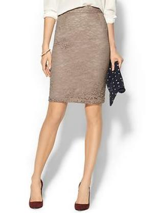 PIPERLIME COLLECTION Lace Pencil Skirt in Nude
