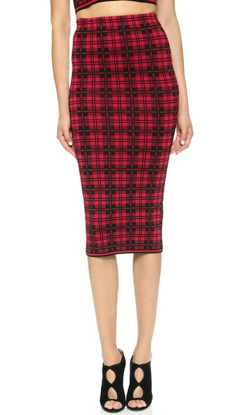 Torn by Ronny Kobo Ronny London Plaid Skirt in Red