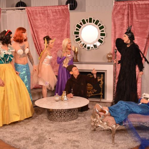"Jason Kennedy, Melanie Bromley, Catt Sadler Giuliana Rancic and the The E! News Crew in the Halloween inspired ""E! True Hollywood Story: Who Killed Elsa? special airing tonight on E!"