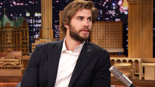 """Liam Hemsworth chats with Jimmy Fallon on """"The Tonight Show Starring Jimmy Fallon"""" about starring in """"The Hunger Games: Mockingjay"""""""