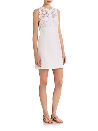 Lilly Pulitzer Breakers Shift Dress in Resort White