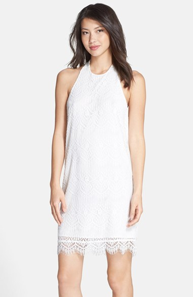 BB Dakota 'Jeanne' Lace Halter Dress in White