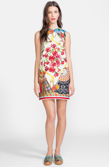 Dolce & Gabbana Print Brocade Shift Dress