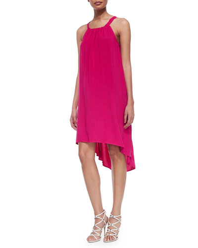 Splendid  High-Low Shift Dress, Raspberry