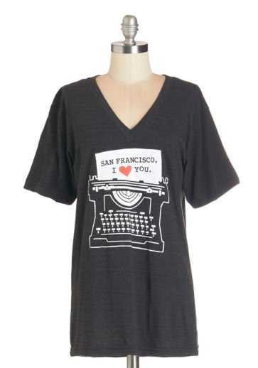 Live Up to the Type San Francisco I Love You Graphic Statement Tee
