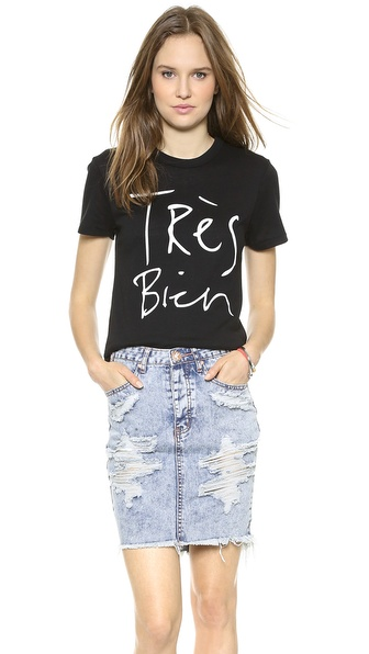 CHRLDR Tres Bien T-Shirt in Black (also available in grey)